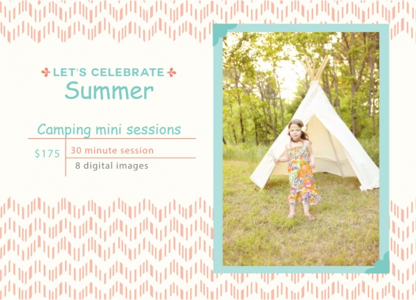 camping mini session flyer